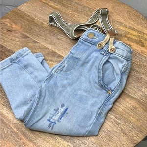 Zara baby boy suspenders skinny jeans